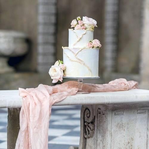 Luxe Wedding Cake Elegant Womens Wedding