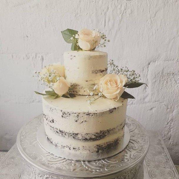 Luxurious White Chocolate Wedding Cake