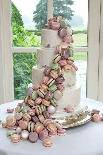 Macrons Wedding Cake Ideas