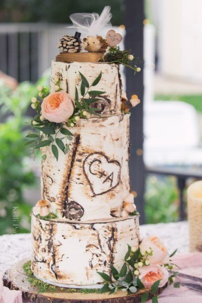 Magnificent Rustic Wedding Cake Art Toppers