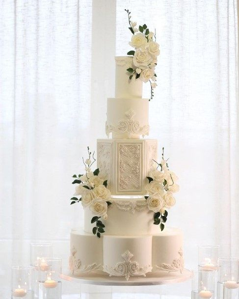 Magnificent White Wedding Cake
