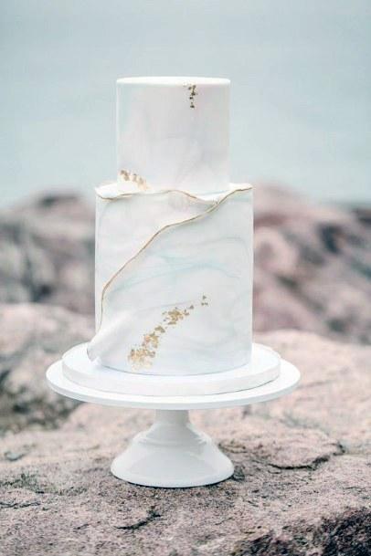 Marble Womens Wedding Cake Elegant