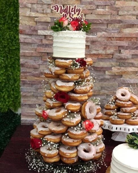 Marvellous Donut Wedding Cake