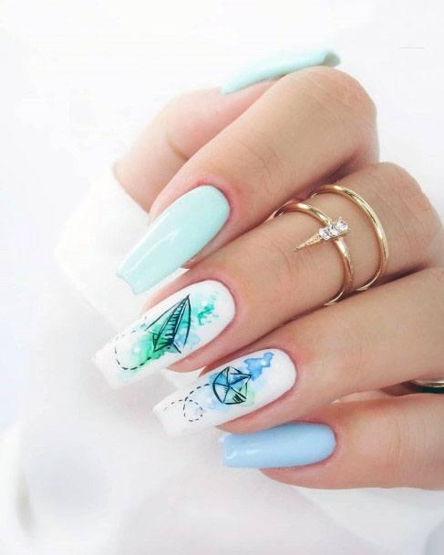 Marvellous Mint Nails Women