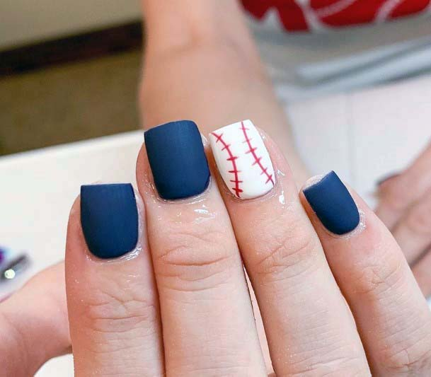 Matte Sport Nails For Women
