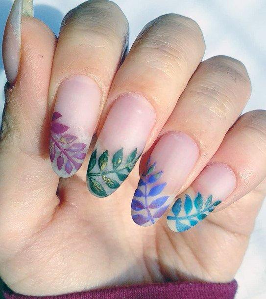 Matte Tropical Nails Women
