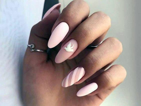 Matte Whitish Pink Natural Nail Ideas For Women