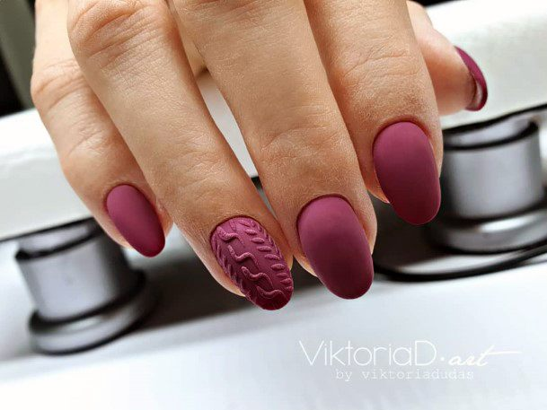 Matted Berry Nails Sugar Effect For Women
