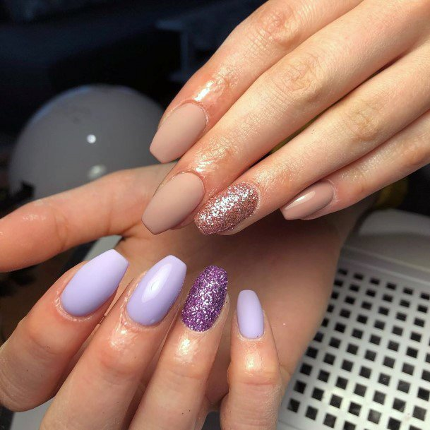 Mauve Painted Nails