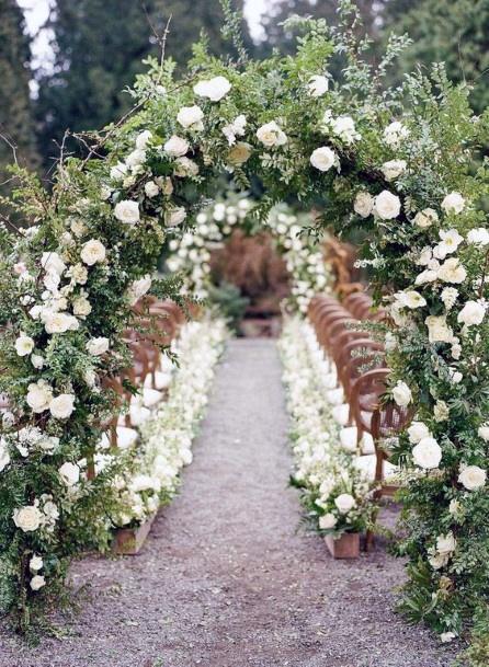 May Wedding Flowers Arch