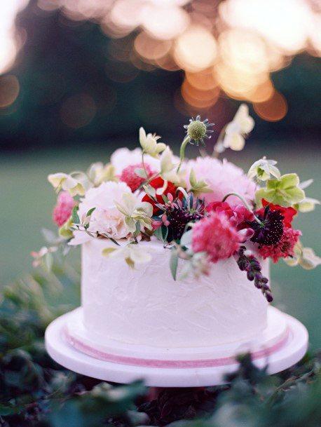 May Wedding Flowers Decor Cake