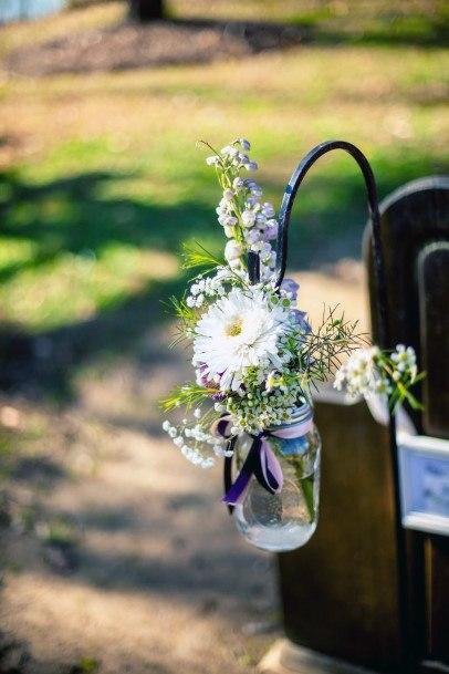 May Wedding Flowers Glass Shepherd Hook