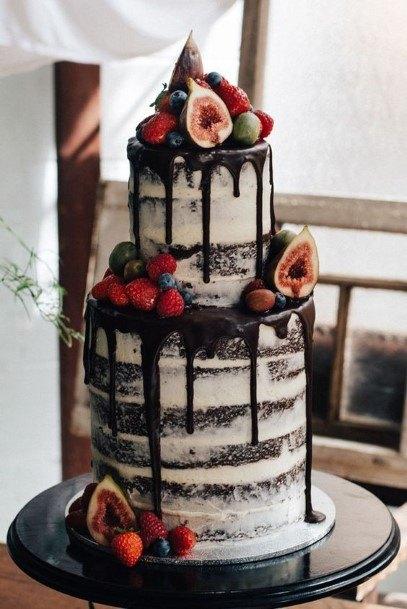 Melting Chocolate Wedding Cake