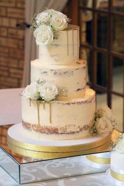 Melting Gold Elegant Wedding Cakes Women