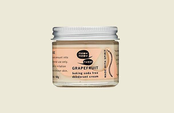 Meow Meow Tweet Baking Soda Free Grapefruit Natural Deodorant For Women
