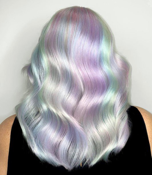 Mesmerizing Long Glossy Multicolored Pastel Womens And Girls Hairstyle