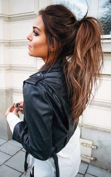 Messy Pony With Highlights Women Hairstyles