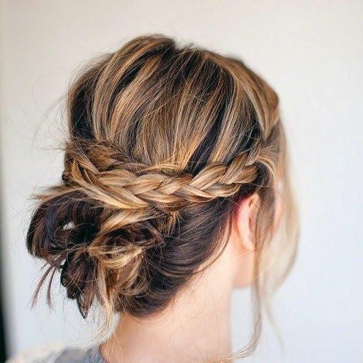 Messy Short Braided Hairstyle Women