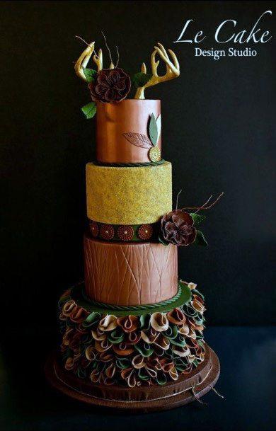 Metallic Camo Wedding Cake