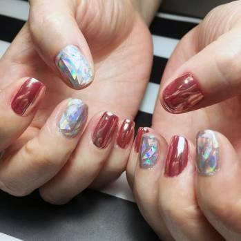 Metallic Glass Nails For Women