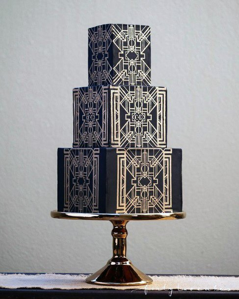 Middle Eastern Decor Womens Wedding 3 Tier Cake