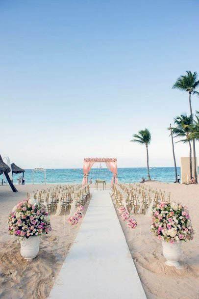 Mighty Beach Wedding Flowers