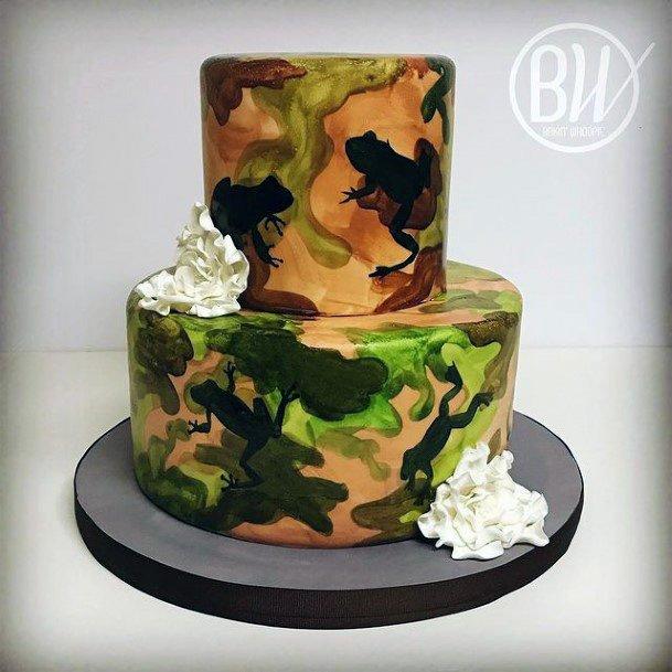 Military Camo Wedding Cake