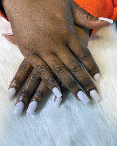 Milky White Gel Nails Ideas Women