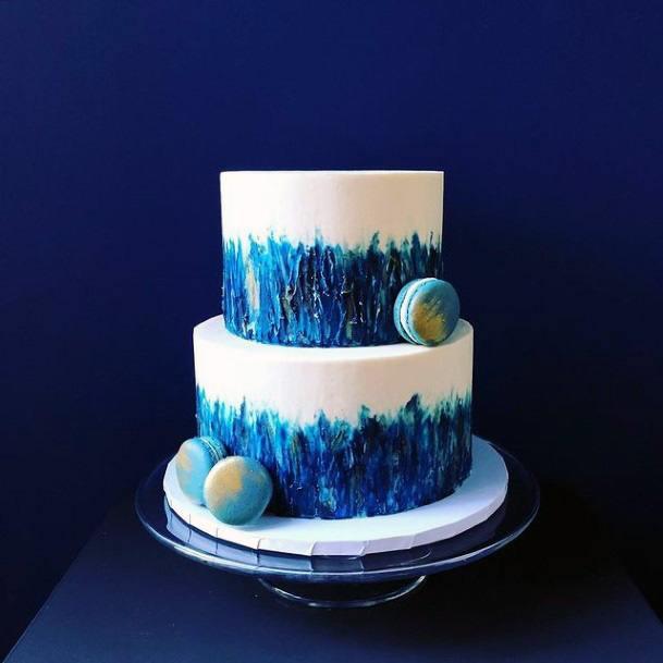 Mind Blowing Blue Wedding Cake