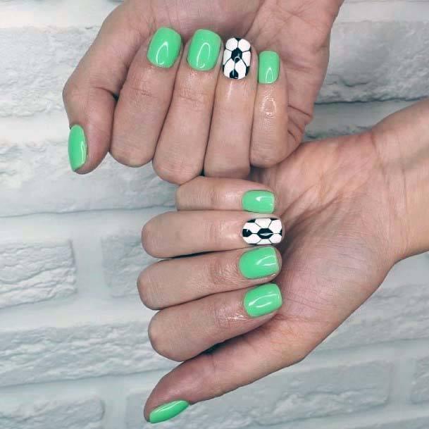 Mint Green Sport Nails For Women