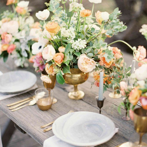 Mixed Flowers Wedding Centerpiece Ideas
