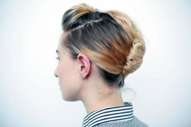 Modern And Practical Highlighted Sectioned French Twist For Teenage Girls
