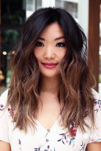 Modern Asian Hairstyles Middle Parted Messy Textured Long