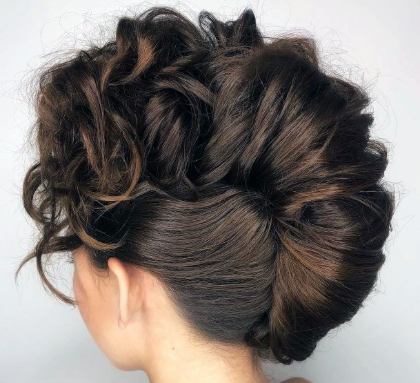 Modern Large And Voluminous Curly French Twist For Teenage Girls