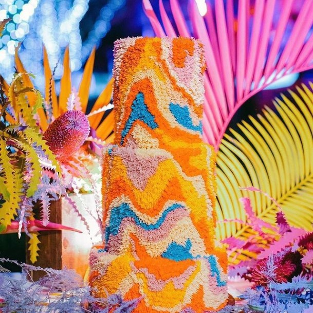 Most Colorful Unique Wedding Cake