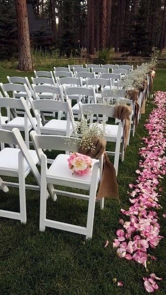 Mountain Home Forest Ceremony Backyard Wedding Ideas