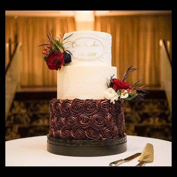 Mouth Watering Chocolate Wedding Cake