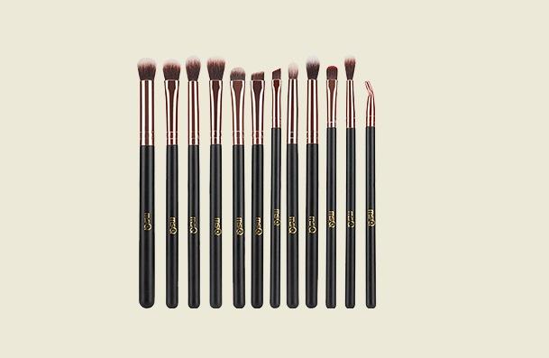 Msq 12 Pcs Rose Gold Eyeshadow Makeup Brush For Women
