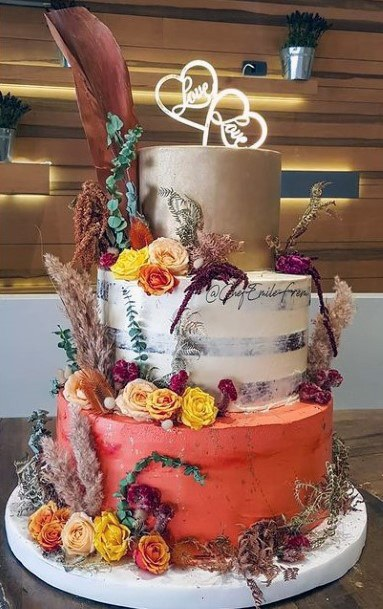 Multi Colored Fall Wedding Cakes Women