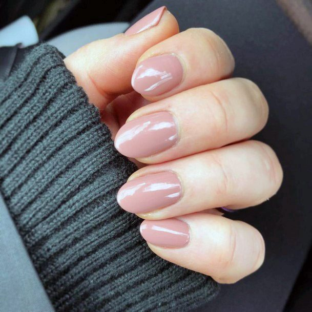 Nails Painted With Nude Shade