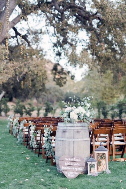 Napa Vinyard Ceremony Setup Rustic Wedding Ideas