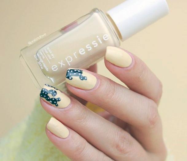 Navy Blue Cactus Nails Women