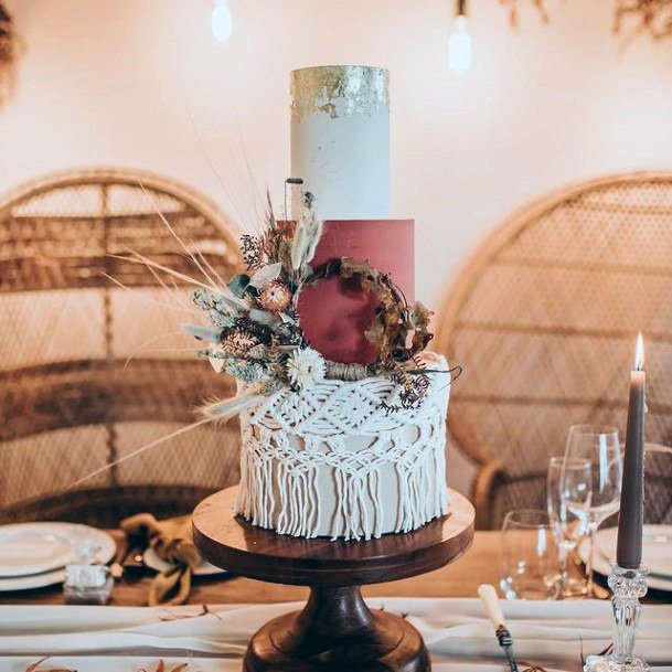 Netted Fall Wedding Cakes Women