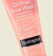 Neutrogena Oil Free Pink Grapefruit Acne Face Wash For Women
