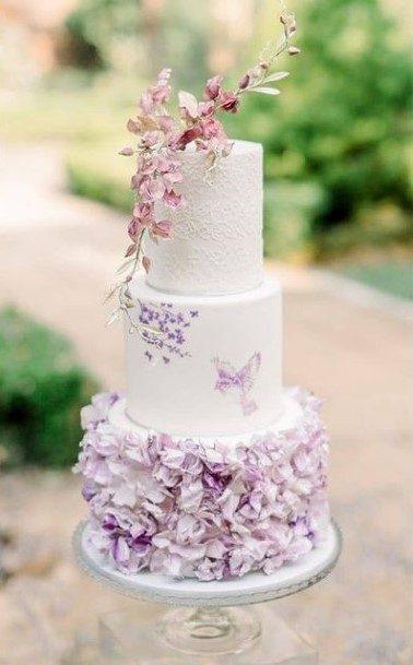 Nice Purple Wedding Cake