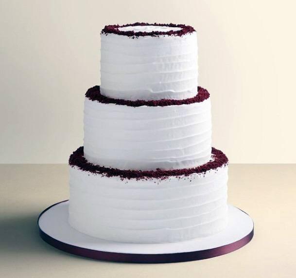 No Fuss White Red Velvet Wedding Cake