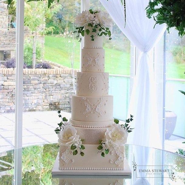 Noble White Wedding Cake