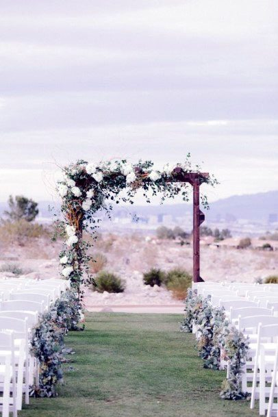 November Wedding Flowers Arch