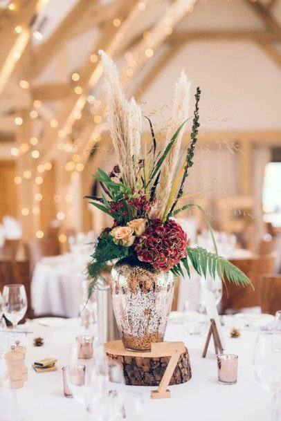 November Wedding Flowers In Vase