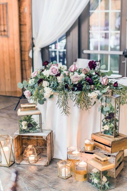 November Wedding Flowers Table Decor